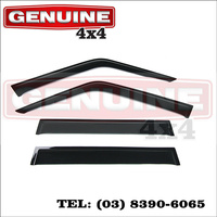 Genuine 4x4 Weathershields For Toyota Landcruiser 70 76 78 79 Series Dual Cabs & Wagons Window Sun Visors