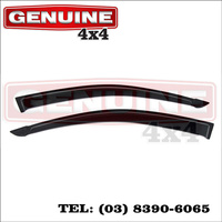Genuine 4x4 Weathershields For Mitsubishi Triton ML MN 2006-15 Cab Chassis Window Sun Visors