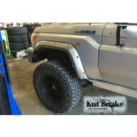 KUT SNAKE FLARES For Toyota Landcruiser 79 series All Years ABS Moulded 2pce