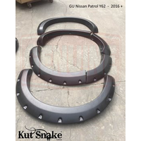 KUT SNAKE FLARES For Nissan Y62 Patrol 2016+ ABS Moulded Full Set