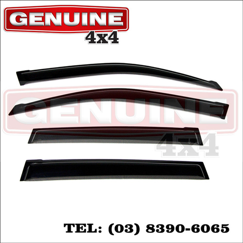 Genuine 4x4 Weathershields For Toyota Landcruiser Prado 150 Series 2009-2017 Window Sun Visors