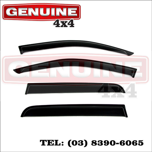 Genuine 4x4 Weathershields For Toyota Hilux 2005 - July 2011 Dual Cab SR SR5 Window Sun Visors