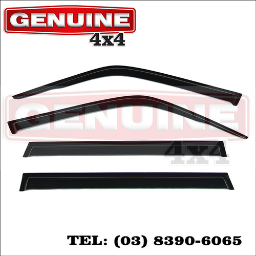 Genuine 4x4 Weathershields for Nissan Patrol GU4+ Y61 2004-2015 current shape Window Sun Visors
